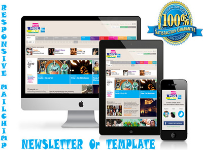Design any responsive malchimp newsletter