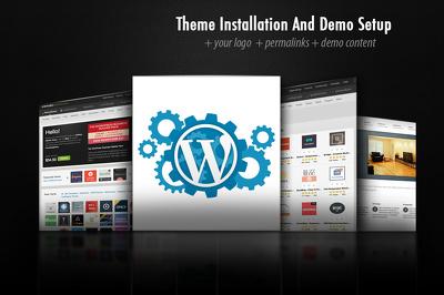 Wordpress Theme Install & Setup