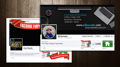 Design your Facebook & Twitter Page