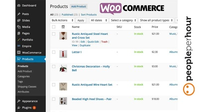 Upload 100 products on your wordpress Woocommerce/ any eCommerce shop