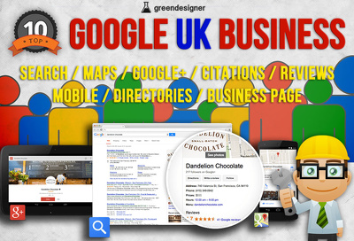 UK Google Business Package For Local SEO Rankings Citations