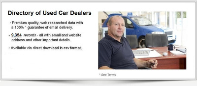 Database of 9K+ Used Car Dealers in UK