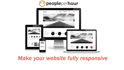 make your website Fully Responsive for All Devices (Desktop,Tablet,Mobile) per page