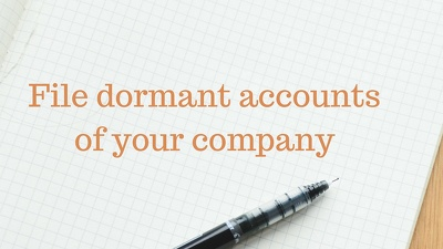 Prepare and submit dormant accounts of limited company to Companies House