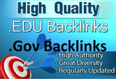 Manually build High PR 50 edu and gov links to boost your website SEO