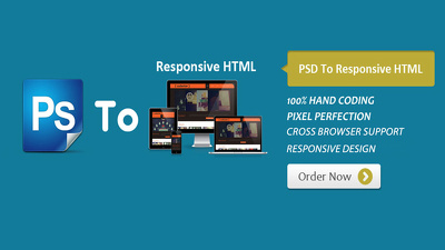 Convert PSD to HTML Responsive design using Bootstrap3 & Parallax support