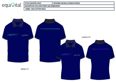 Design your company polo shirt or tshirt using your logo