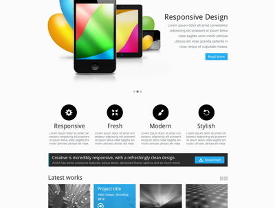 Design your website with attractive responsive design