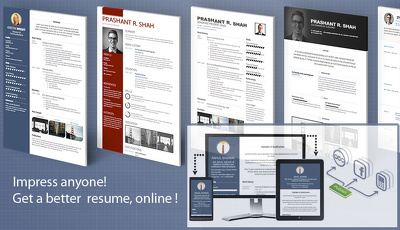 Create your Profile Site or Online CV Website for Students/ Professionals and Artists