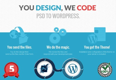 PSD to Wordpress Conversion with Mobile Responsive Compatible