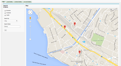 Integrate google map with salesforce
