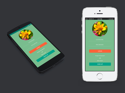 Design android, ios app layout