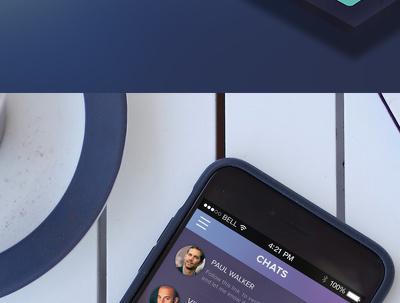 design Mobile app PSD