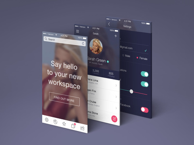 Fantastic iPhone / Android app designed with 10 screens (Design/ Unlimited Revisions)