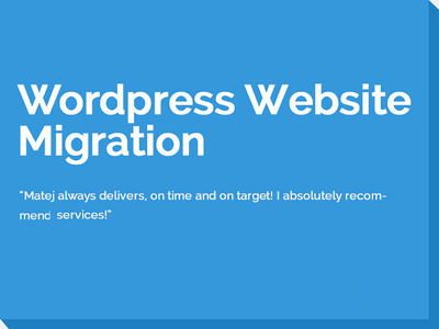 WordPress Website Migration/Cloning/Transfer/Updating