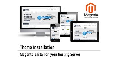 Install  Magento, set up theme and develop a magento eCommerce shop/website