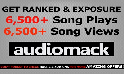 Deliver 3,000 views and 3,000 plays to your AudioMack song - rank It