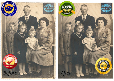 Do photo restoration and retouching