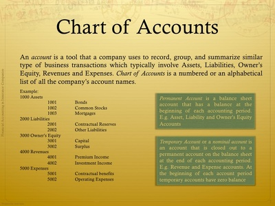 Create a professional Chart of Accounts into I Xero I Quickbooks I Zoho I Wave