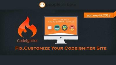 Install codeigniter/ Fix codeigniter site / customize codeigniter website Now!!!