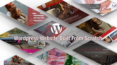 Design Wordpress Website, built from scratch