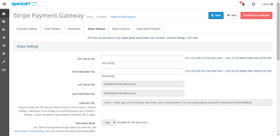 Do stripe payment gateway integration in opencart