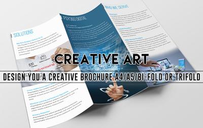 Design you a creative brochure A4/A5/BI-Fold OR Trifold
