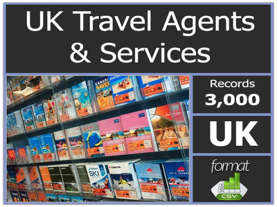 Give you UK 3000 plus Travel Agents & Services contact or email list