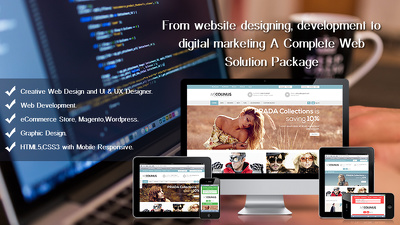 Custom WordPress 10 page site Design & Development Parallax Scrolling