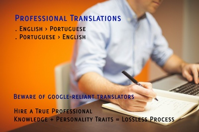Professionally translate 500 words from English into Brazilian Portuguese