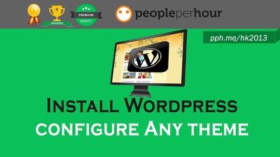 Install Wordpress Theme & Setup it like Demo within 48 hours !!