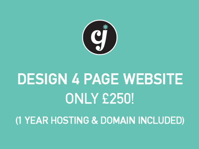 Create 4 Page Basic Website (1 Year Hosting & Domain INCLUDED)