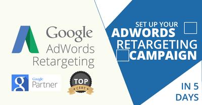 Set up a Google Adwords retargeting (remarketing) campaign