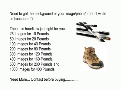 Make background of an image/product white or transparent (25 images)