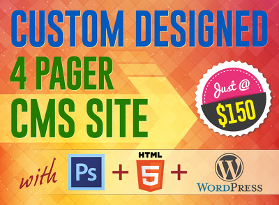 Get your own 4 Pager CMS WordPress site + PSD + HTML at the most competitive price !!