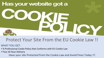 Draft a Professional Cookie Policy Page for your Site