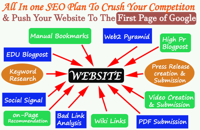 Offer high quality & powerful SEO, link building plan to crush your competition