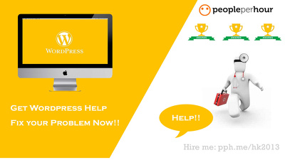 Get wordpress help and fix wordpress problems ,issue,bug,errors Now!!
