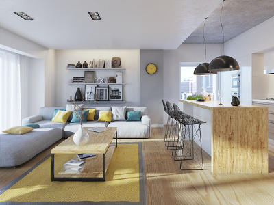 Render photorealistic 3D exterior and interior scenes