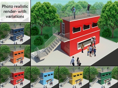 Do photo Realistic Rendering of any Building