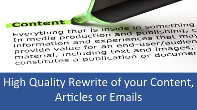 Professionally rewrite your website content, emails or Articles  up to 600 Words