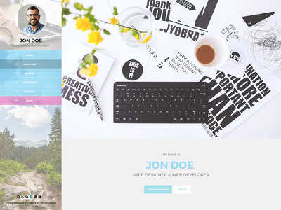 Design a standard website graphic layout in photoshop