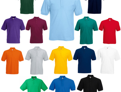 Design, print and deliver personalised polo shirts - from 1 quantity
