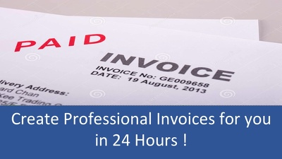 Create Professional Invoices for your Business within 24 Hours