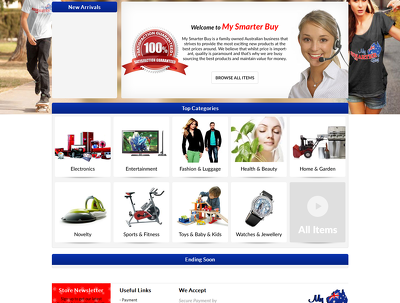 EBay Store Front Design and Listing Template Design with dynamic categories
