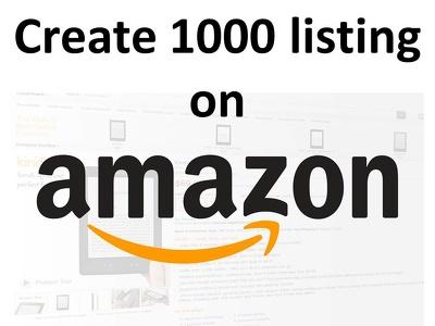 Create 1000 listing on any Amazon Marketplace