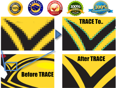 Trace Your Logo Or Image in Vectorized Within Few Hours
