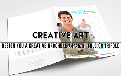 Design you a creative brochure A4/A5/BI-Fold OR Trifold
