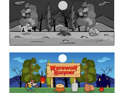 Cartoon style 2d game graphics less then 72 hours