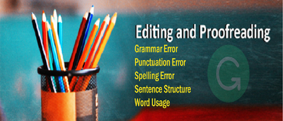 Proofread and edit up to 1200 words within 24hrs